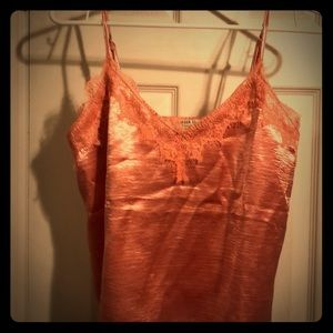 Forever21 Pink satin lace camisole size small